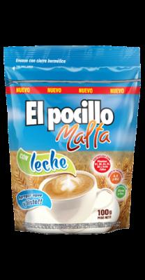 MALTA EL POCILLO C/LECHE DOY PACK x100Grs