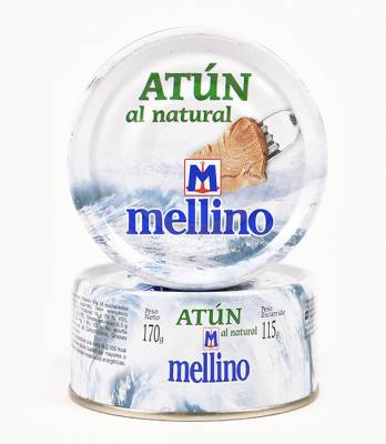 ATUN AL NATURAL MELLINO x170Grs