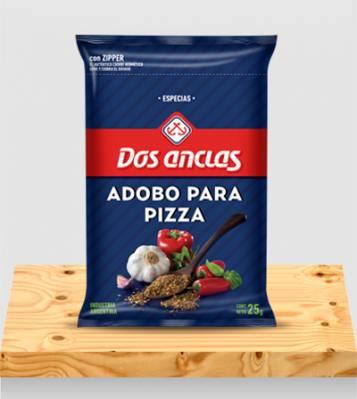 ADOBO PARA PIZZA DOS ANCLAS BOLSA 6x25Grs
