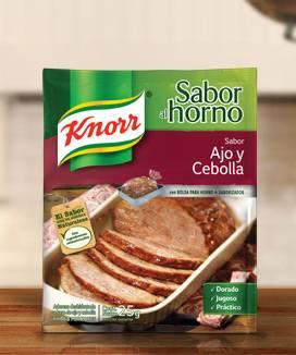 KNORR SABORES AL HORNO AJO/CEBOLLA x25Grs