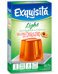 GELATINA LIGHT EXQUISITA DURAZNO x25Grs