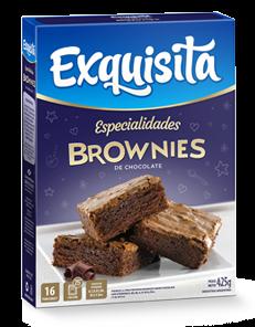 BROWNIES EXQUISITA CHOCOLATE x425Grs