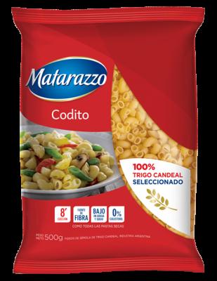 FIDEOS MATARAZZO CODITOS RAYADOS x500Grs