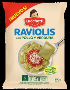 LUCCHETTI RAVIOLIS POLLO/VERDURA x500Grs