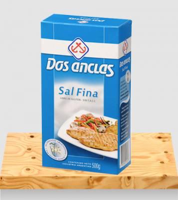 SAL FINA DOS ANCLAS ESTUCHE x500Grs