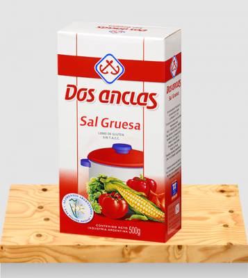 SAL GRUESA DOS ANCLAS ESTUCHE x500Grs
