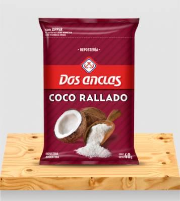 COCO RALLADO DOS ANCLAS BOLSA 6x50Grs