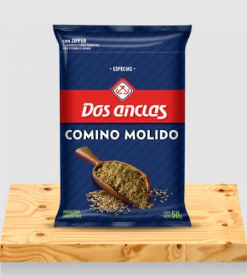 COMINO MOLIDO DOS ANCLAS BOLSA 6x50Grs