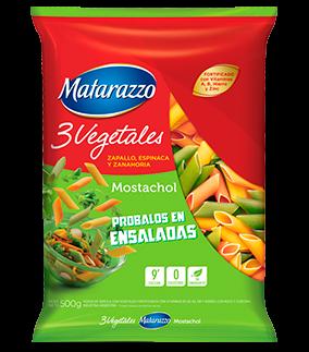 FIDEOS MATARAZZO MOSTACHOL 3 VEGETALES  x500Grs